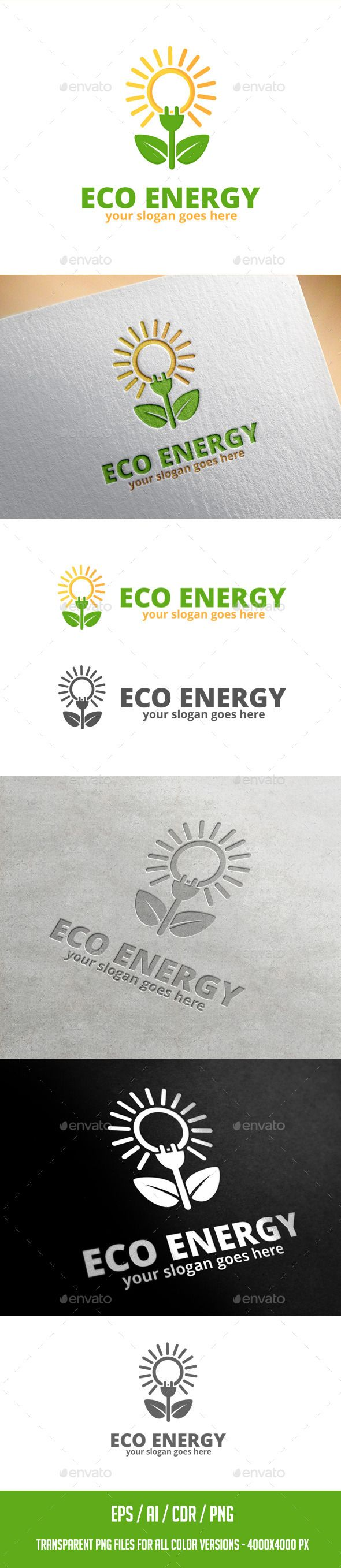 Eco Energy - Logo Design Template Vector #logotype Download it here: http://graphicriver.net/item/eco-energy-logo-template-/11656329?s_rank=762?ref=nesto
