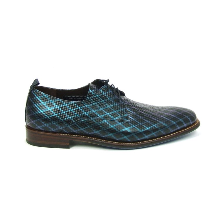 Prachtige nette heren schoenen van Floris van Bommel, model 14304! Uitgevoerd in een speciale carbonprint in de gedurfde kleuren blauw en zwart. Deze herenschoenen zijn geheel van leder met een rubber loopzool. Ze zijn zowel geschikt voor een casual look als een nette look. Echt schoenen voor de man met lef!
