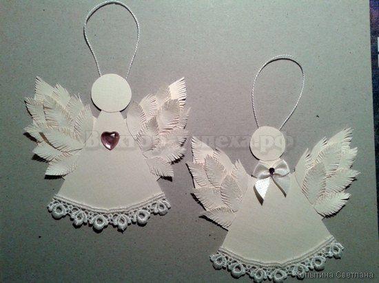 Ангелочки новогодние своими руками мастер класс