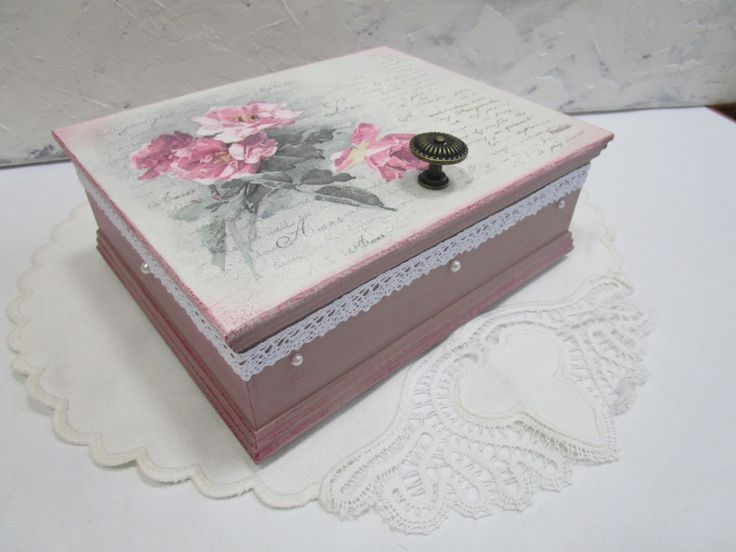 Decoupage tutorial - DIY. How to decoupage a box with napkins. Tutorial...