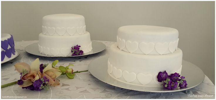 Wedding white heart cake