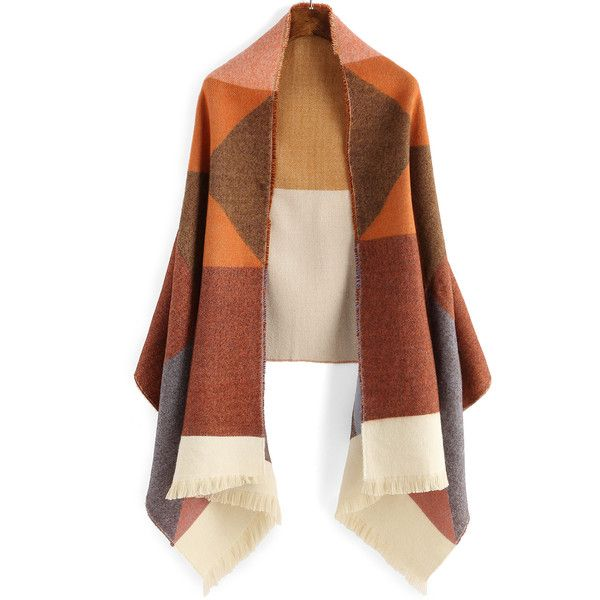 Colour-block Fringe Scarve (£13) ❤ liked on Polyvore featuring accessories, scarves, multicolor, colorful scarves, colorful shawl, multi colored scarves, fringed shawls and fringe scarves