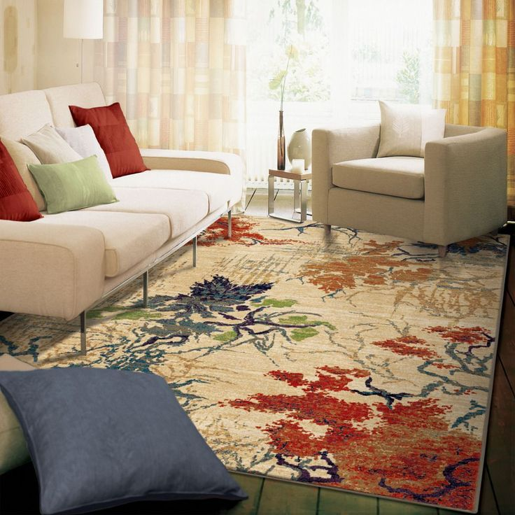 Orian Rugs Abstract Forrest Multi Area Rug 710 Inch X 1010 Beige