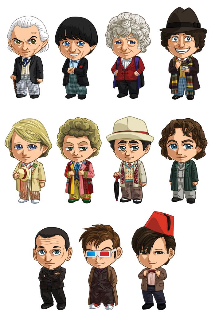 doctor who all the doctors by cosplayscramble on