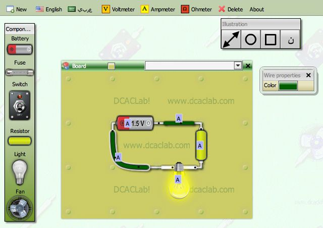 Online-electric-circuit-simulator