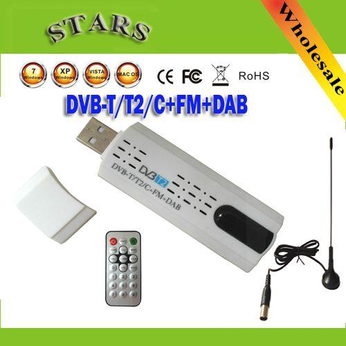ดิจิตอลดาวเทียมDVB t2 usbทีวีติดจูนเนอร์ที่มีเสาอากาศรับสัญญาณทีวีแบบHDระยะไกลสำหรับDVB-T2/DVB-C/FM/ตบเบาๆ,ขายส่งจัดส่ง�