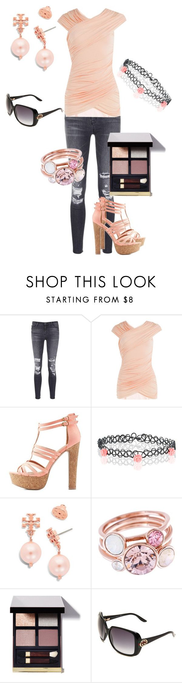 """""""Spring is in the Air"""" by melissa-carr91 ❤ liked on Polyvore featuring J Brand, Bailey 44, Charlotte Russe, Accessorize, Tory Burch, Ted Baker, Tom Ford and Gucci"""