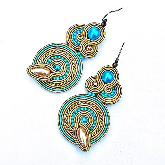 Hey, I found this really awesome Etsy listing at https://www.etsy.com/listing/207036029/soutache-earrings-turquoise-beige-ecru