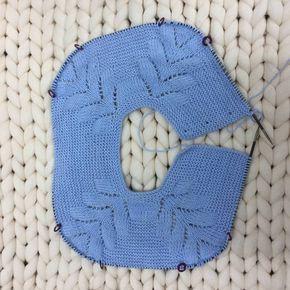 cuerpo del jersey de punto con raglán de espiga