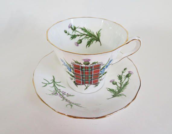 Adderley Royal Stewart Tartan Teacup Scottish Tea Cup and