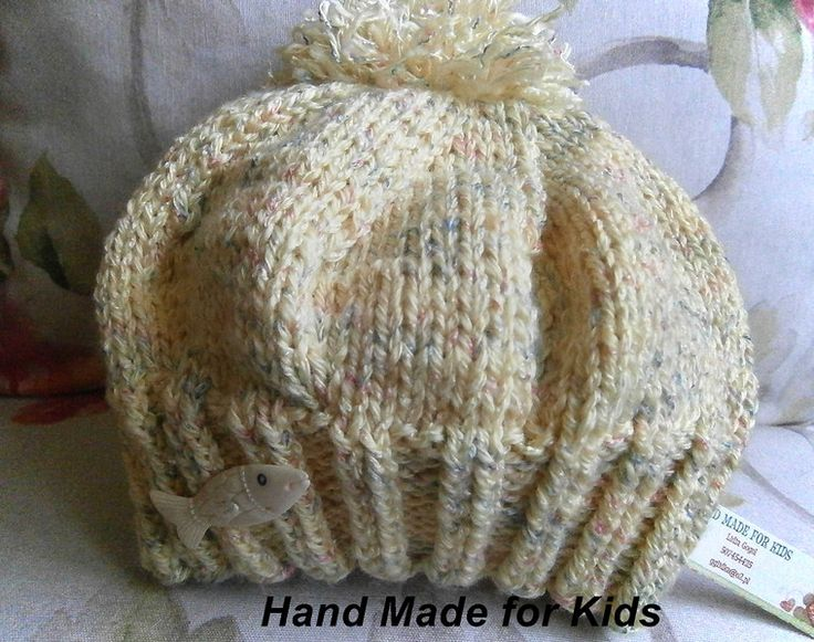 czapka+z+pomponem+*+beret+w+Hand+Made+Lidia+na+DaWanda.com
