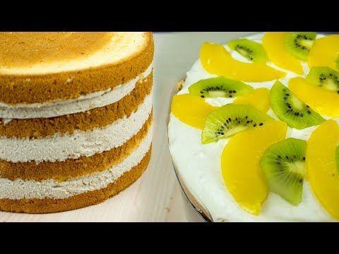 Крем сливочно-банановый с фруктами для торта - Я - ТОРТодел! - YouTube