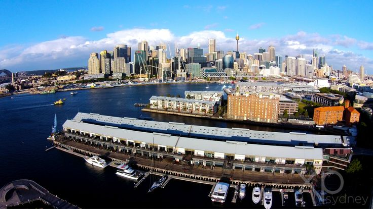 Pyrmont is one of Sydney's most densely populated suburb and is better seen from the skies.