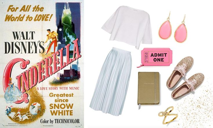5 outfits inspired by classic Disney posters | Cinderella | [ https://style.disney.com/fashion/2016/06/10/5-outfits-inspired-by-classic-disney-posters/ ]