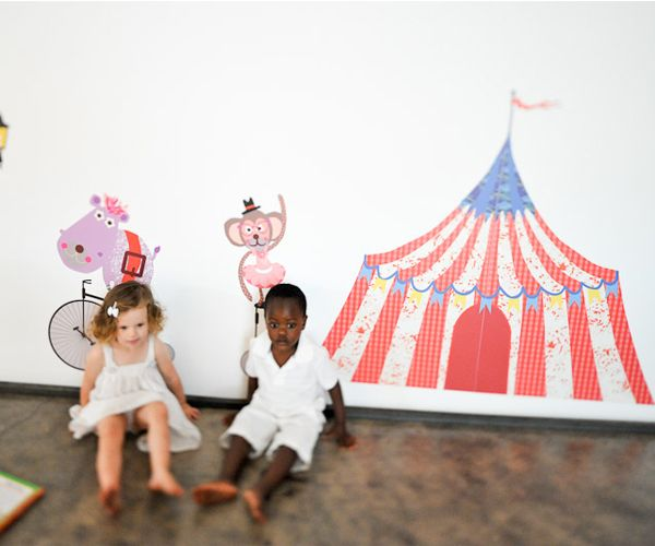 "Add the ""big tog"" your next room. #SocialCircus: Circus Tent, Chic Fabrics, Circus Baby, Wall Decals, Big Tops, Circus Parties, Tops Circus, Kids Rooms, Fabrics Wall"