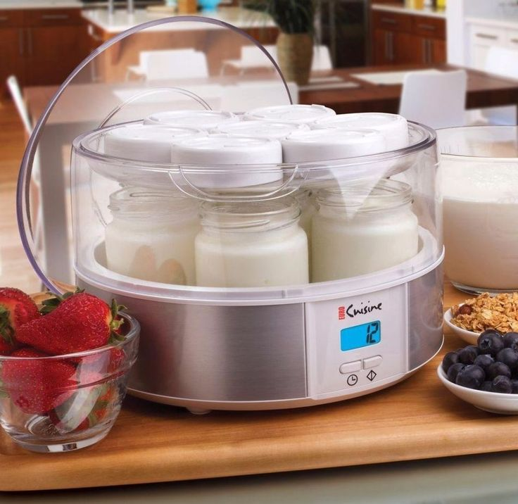 Automatic Yogurt Maker With Seven 6-Oz Jars Digital Timer Specialty Appliance #yogurtmaker