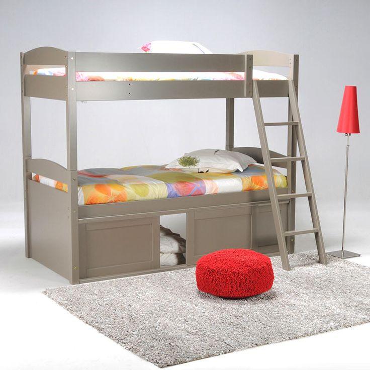 lit superpose en bois pas cher