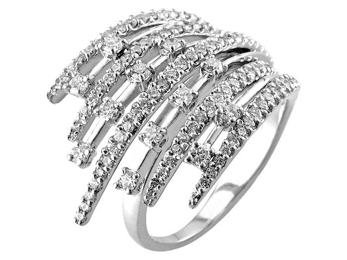 """18K white gold ring set with 1.40carat diamonds  """"Italian Couture Collection"""" www.fashionbysako.com"""
