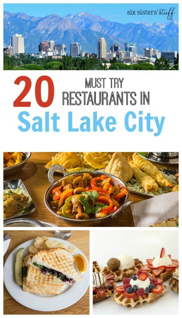 20 must try restaurants in Salt Lake City | Travel Salt Lake City | @sixsistersstuff