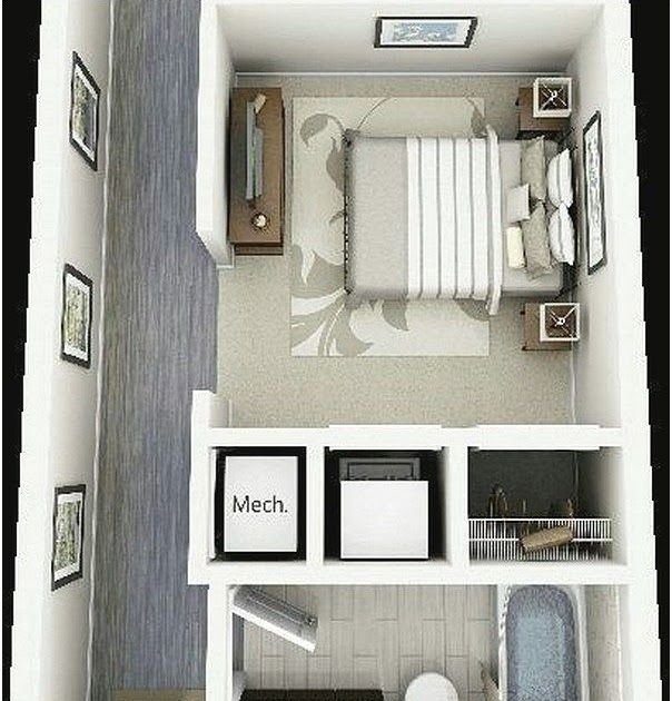denah rumah 1 kamar tidur