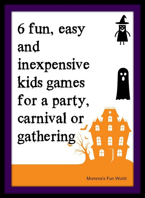 Momma's Fun World: Fun games for Kids Halloween party  #monsters #monster #ghost #ghosts #frankenstein #pumpkin #carving #spooky #pumpkincarving #kids #mom #dad #homedecor #candles #witch #witches #trickortreat #trick #treat #homedecor #candles #witch #witches #trickortreat #trick #treat #food #goodfood #yummy #recipes #recipe #candy #sweet #candies #sweets #cookie #cookies
