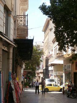 Plaka Street, Athens.