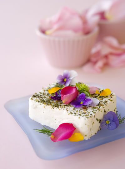 Woodside Cheesewrights Monet  - Fresh Chevre With Edible Flowers - Adelaide Australia
