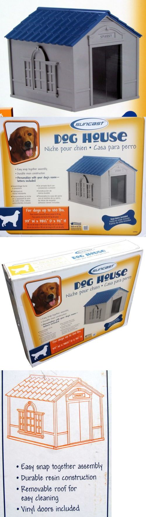 Dog Houses 108884: New X Large Deluxe Durable Plastic Pet Dog House All Weather Resin Doghouse BUY IT NOW ONLY: $91.8