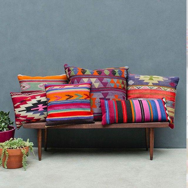 Interesting textile pillows