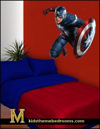 17 best ideas for boys bedrooms on pinterest bedroom for Captain america bedroom ideas