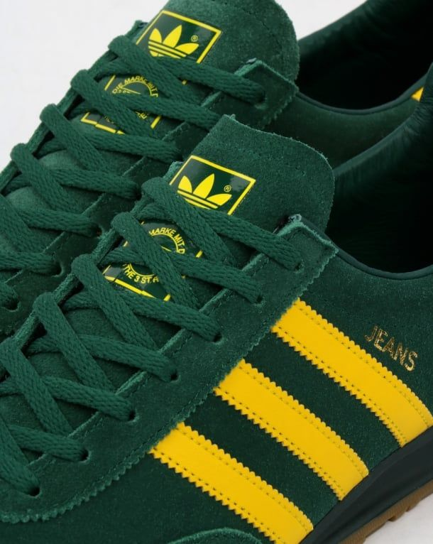 Adidas Jeans Trainers Mk2 Green/Yellow