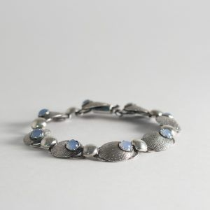 Silver and moonstone bracelet from Alton, Sweden, 1956