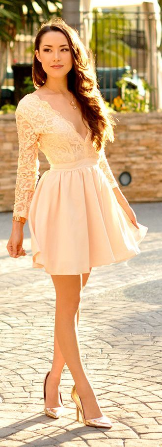 Peachy Fit And Flare Inspiration Dress by Hapa Time