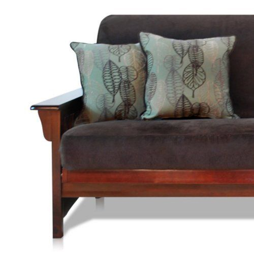 Woven Full Size Futon Cover with Pillow Pack - Bendigo Fern by American Furniture Alliance. $148.00. Soft cover of woven and durable textiles. Easy to put on or take off; machine-washable. Pair of pillows printed with contemporary motifs. Fits full or double-size futon mattresses. Contemporary futon style with a classical sense of comfort. Maybe comfort is your calling or style is your passion, either way you've got a friend in the Woven Full Size Futon Cover wi...