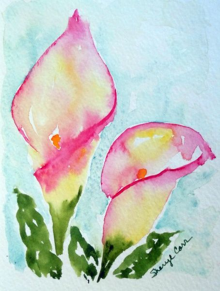 Watercolor Calla Lily Painting of a calla lily.