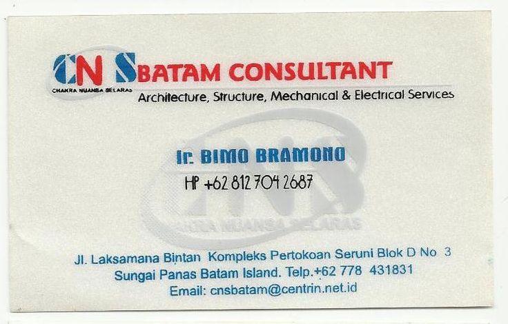 CNS Batam Consultant - Ir. Bimo Bramono