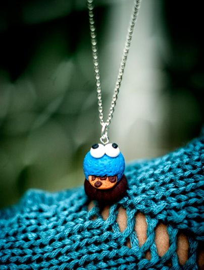 Cookie monster pendant