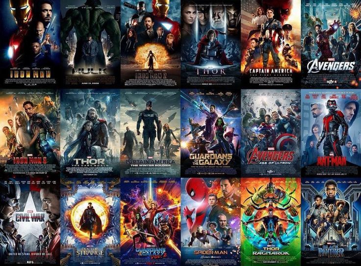 Every poster so far. The MCU is truly something magnificent.
