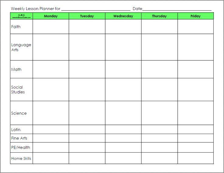 blank lesson plan format - Alannoscrapleftbehind - blank lesson plan template