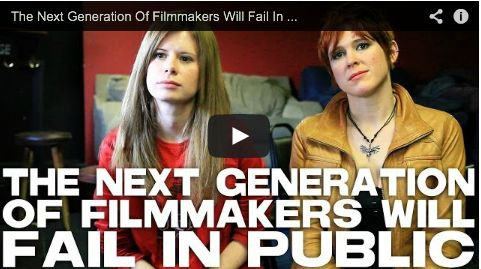The Next Generation Of Filmmakers Will Fail In Public by Elle Schneider & Lily Cade via http://filmcourage.com.  More video interviews at:  http://www.youtube.com/user/filmcourage