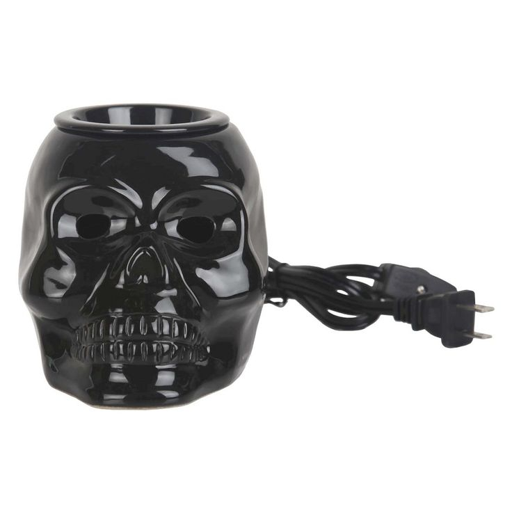 Home Scents Electric Wax Melt Warmer - Black Skull (includes 6pk Waterfall Scent Wax Melts)