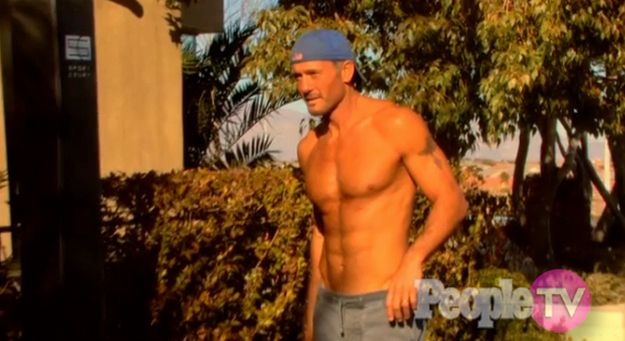 Are you looking beyond the stupid backwards hat? | Are You Physically Attracted To Tim McGraw?