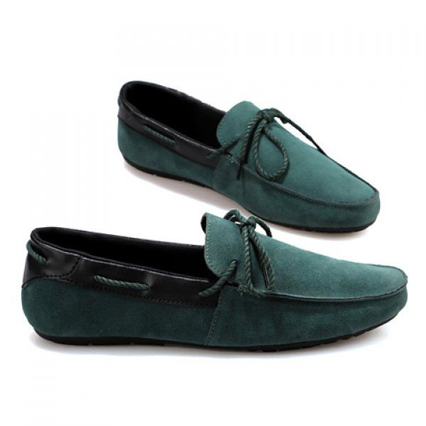 Outdoor Splice and Lace-Up Design Loafers For Men, GREEN, 43 in Men's Shoes | DressLily.com
