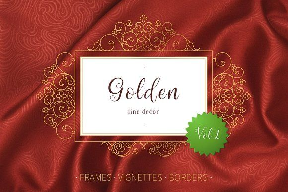 Golden Line Decor Vol.1 by O'Gold! on @creativemarket