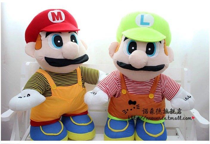 Фильмы и тв плюшевые игрушки 35 см марио и луиджи братья плюшевые куклы подарок s9466