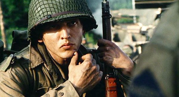 I love Barry Pepper on his character of Private Jackson in Saving Private Ryan