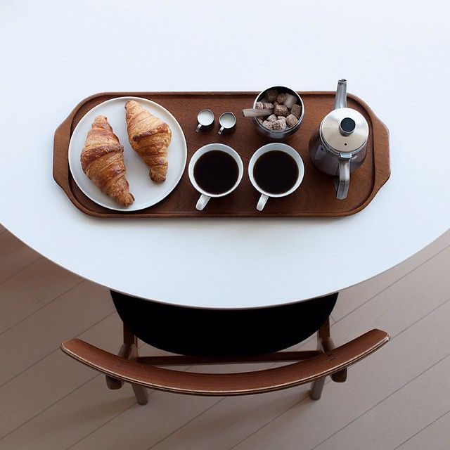 """Enjoying home-made cafe  うちカフェモーニング  #JHPインドア派 #onthetable"""