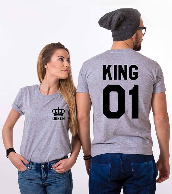 Rey y la reina camisas con coronas rey y reina camisas 01