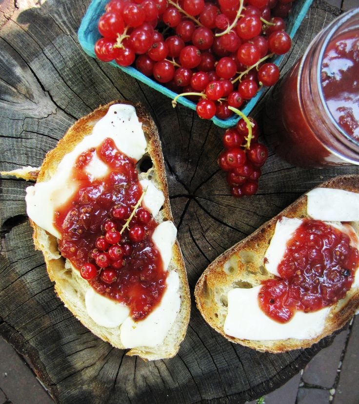 Red currant chutney, toasted sourdough, fontina cheese {Katie at the Kitchen Door}