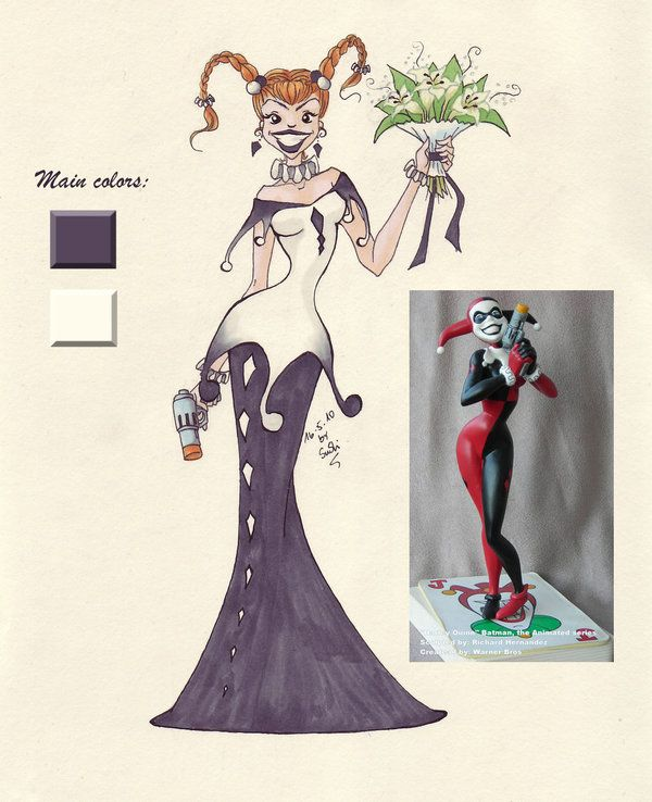 Harley quinn by wedding for Harley quinn wedding dress